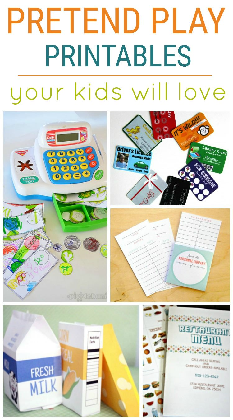 Pretend Play Printables 2